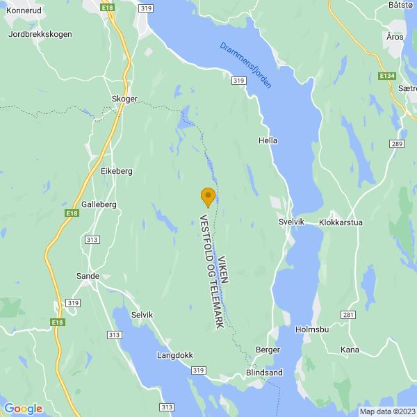 Google Map of 59.6204532,10.326868