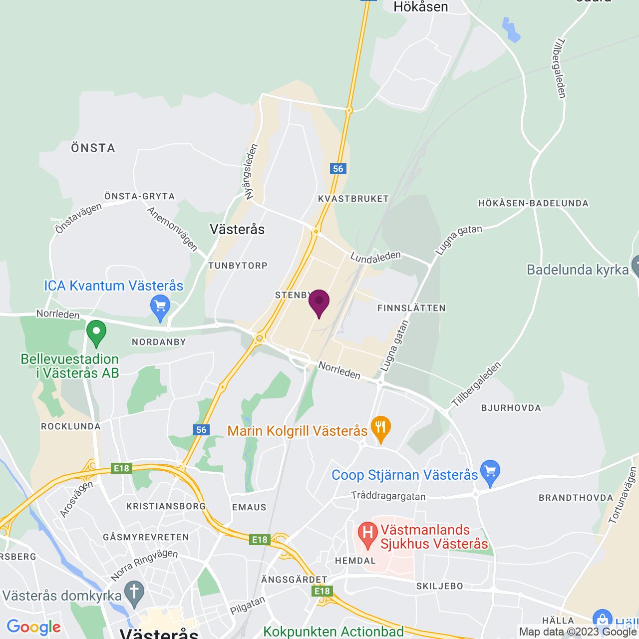 Karta över Stenbygatan 6