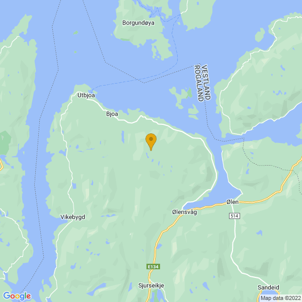 Google Map of 59.63933170000001,5.697311600000035