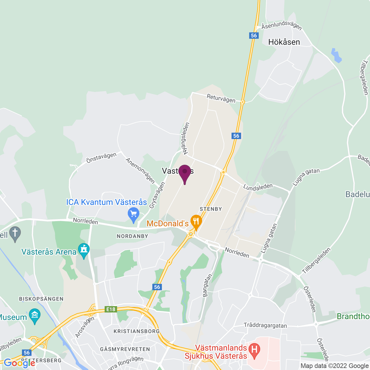 Map of Tunbytorpsgatan 8