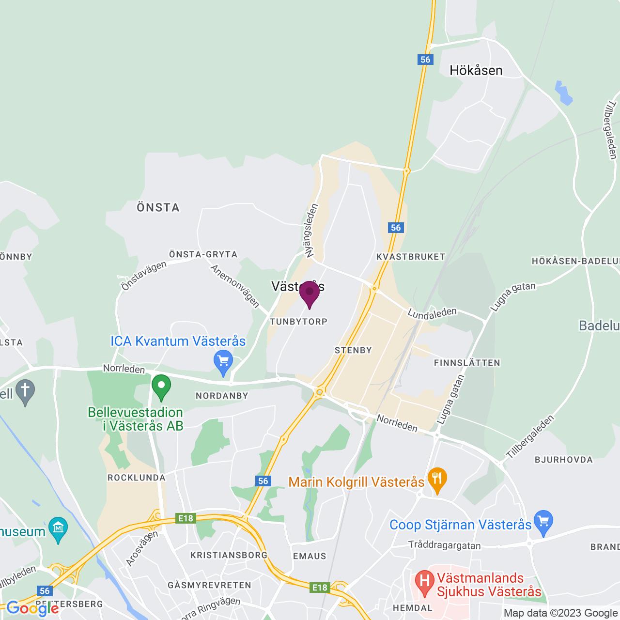 Karta över Tunbytorpsgatan 8