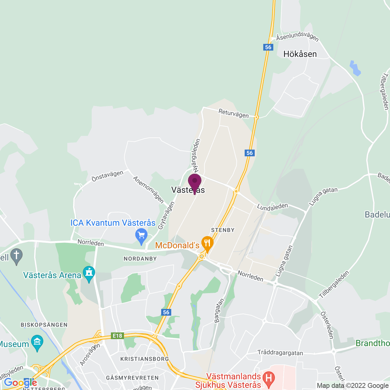 Kort över Tunbytorpsgatan 31