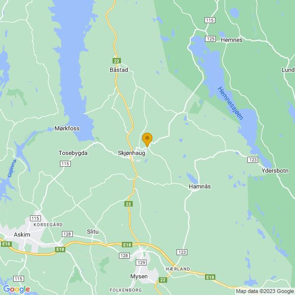 Google Map of 59.644883115671476,11.337721361018849