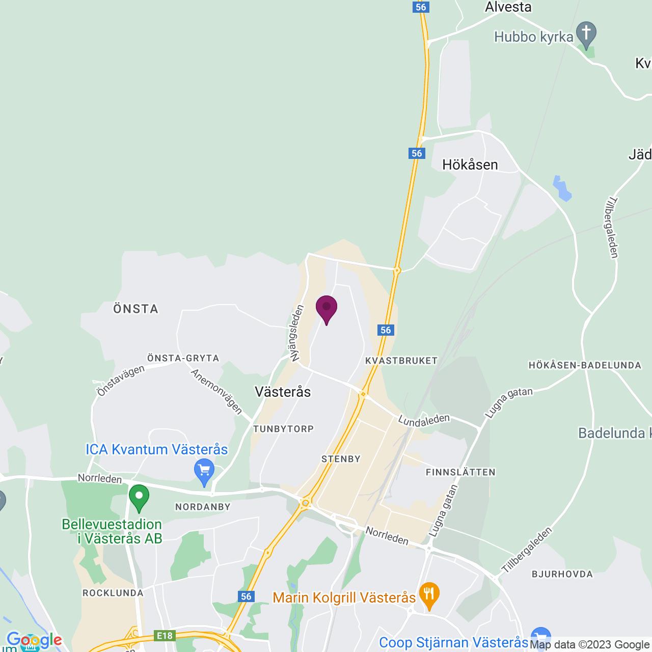 Kort över Lågspänningsgatan 8