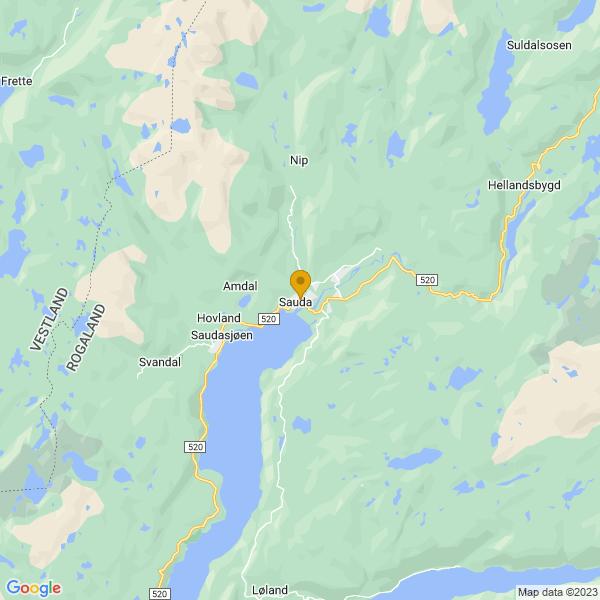 Google Map of 59.651395,6.357239899999968