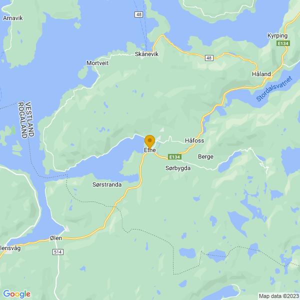 Google Map of 59.66534619999999,5.9371947