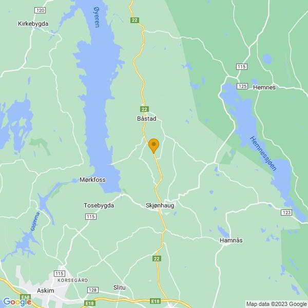 Google Map of 59.67570440000001,11.3074491