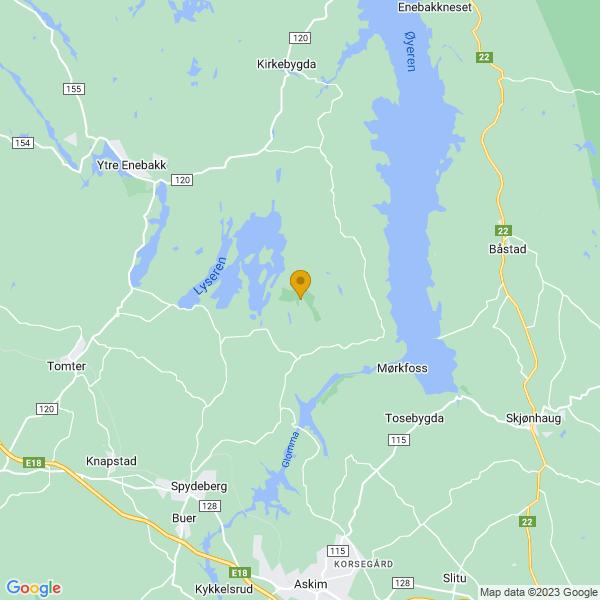 Google Map of 59.68178759999999,11.15552290000005