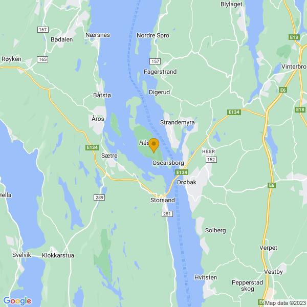 Google Map of 59.682793806219365,10.58633714443022