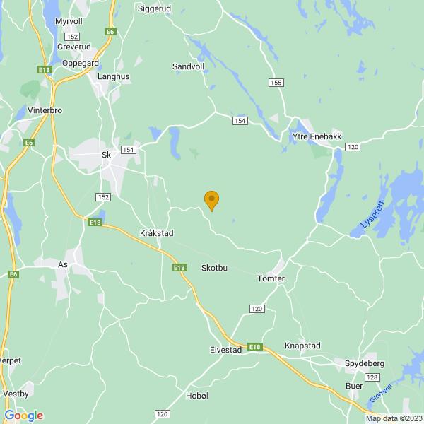 Google Map of 59.6915198,10.9373669