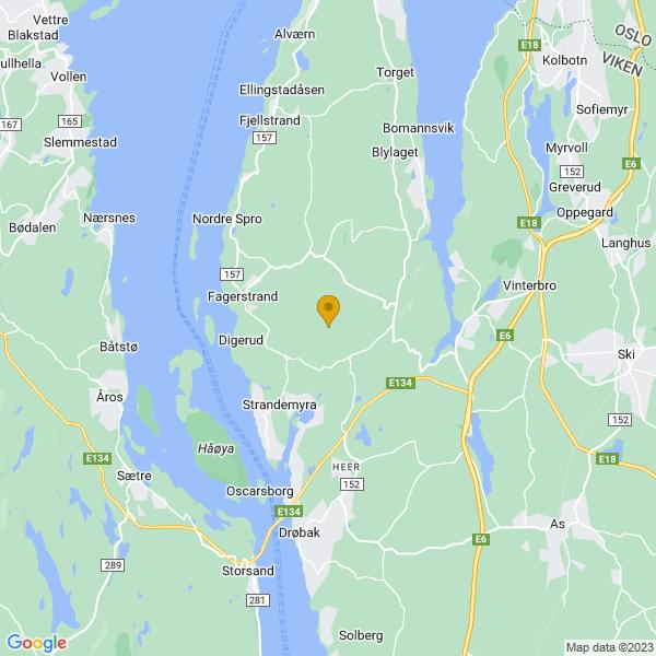 Google Map of 59.72793249999999,10.6485822