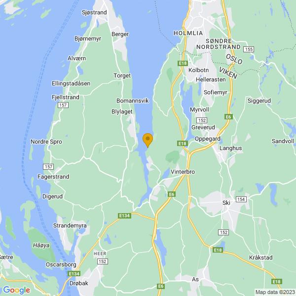 Google Map of 59.75814055764479,10.726452545193752