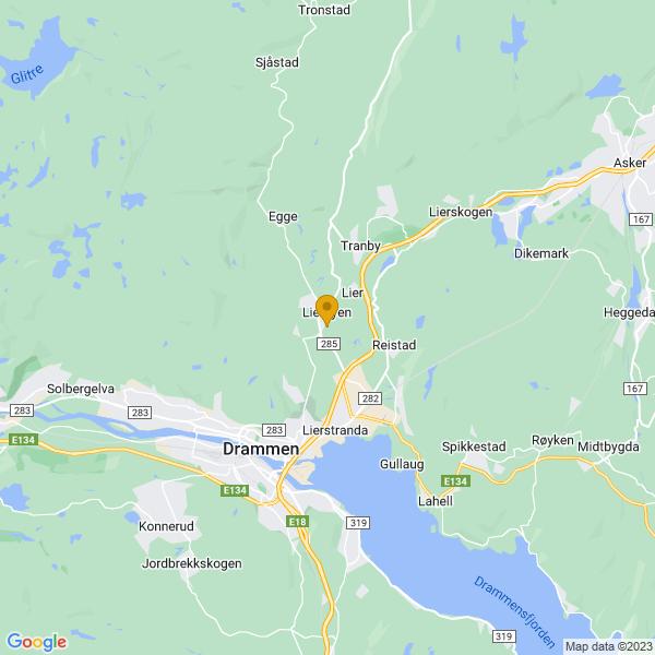 Google Map of 59.78229169999999,10.2460557