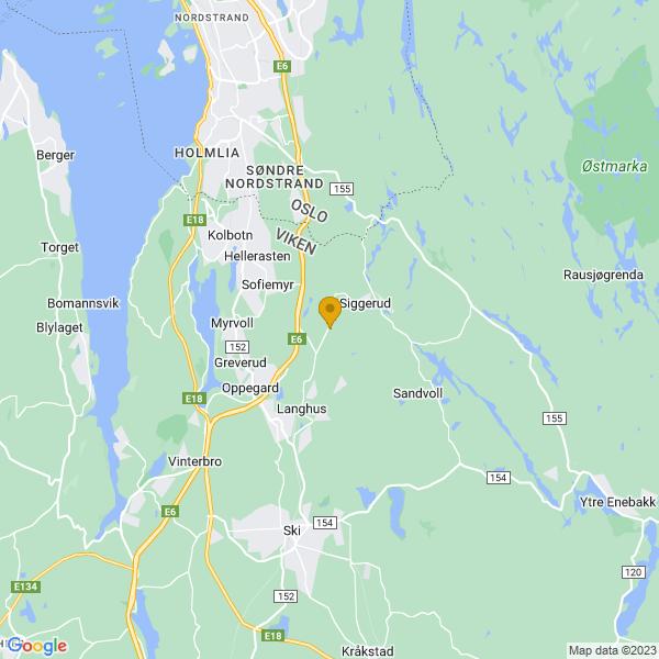 Google Map of 59.782935081244645,10.859641539291886