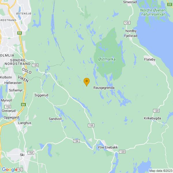 Google Map of 59.80165797420075,10.9891761201669