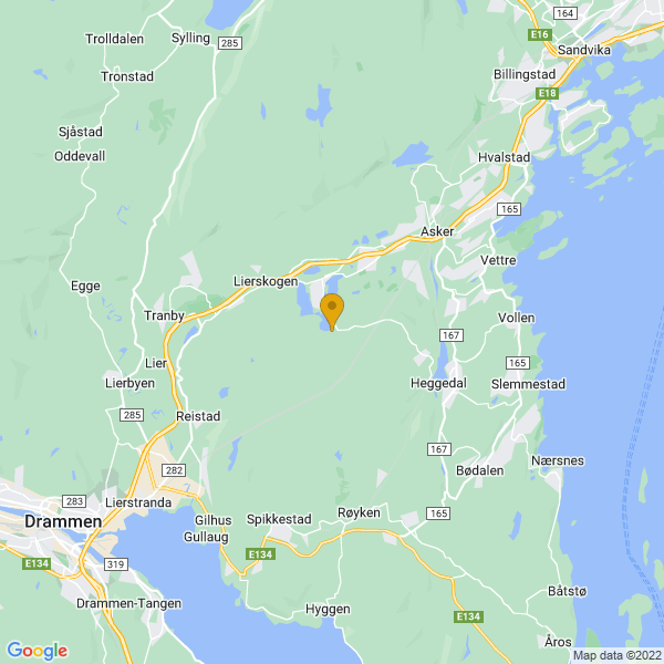 Google Map of 59.80304883347681,10.371050523922122