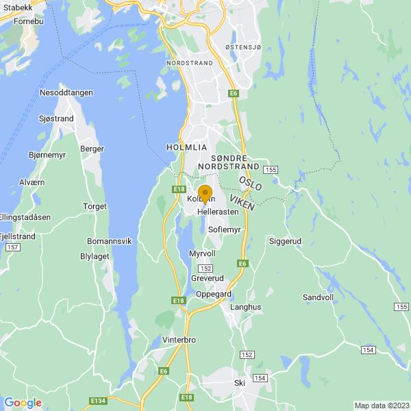 Google Map of 59.80933500228449,10.801409217311612
