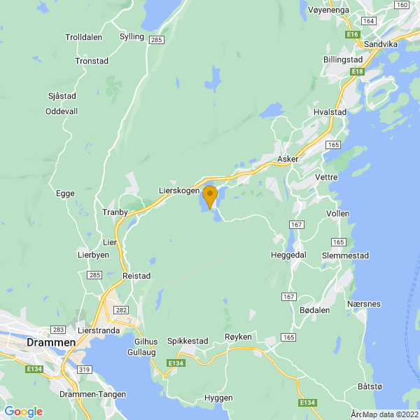 Google Map of 59.8094296,10.3599565