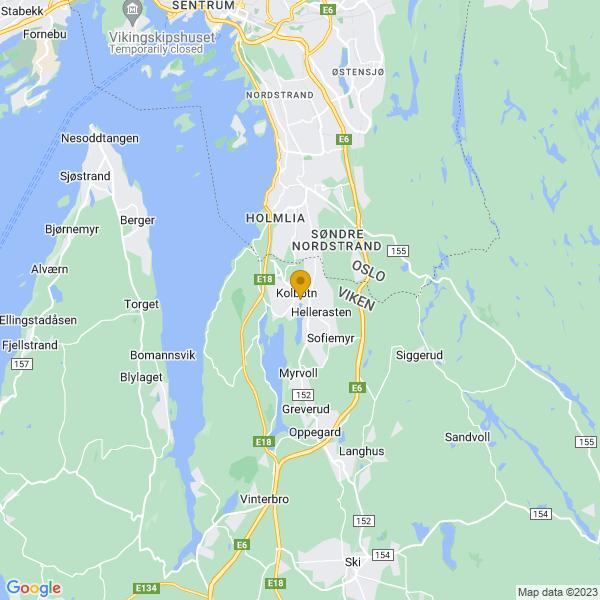 Google Map of 59.8101786,10.7997511