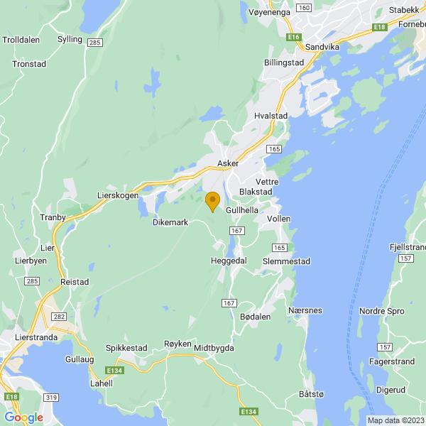 Google Map of 59.81035140569676,10.421696135393415