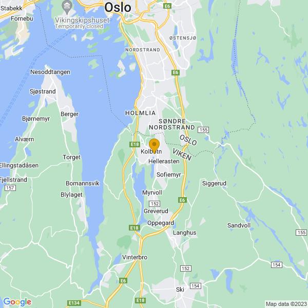 Google Map of 59.81095,10.8011888