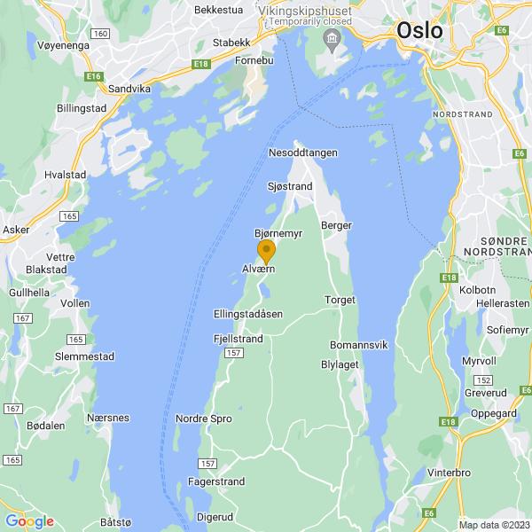 Google Map of 59.8218922,10.6334621