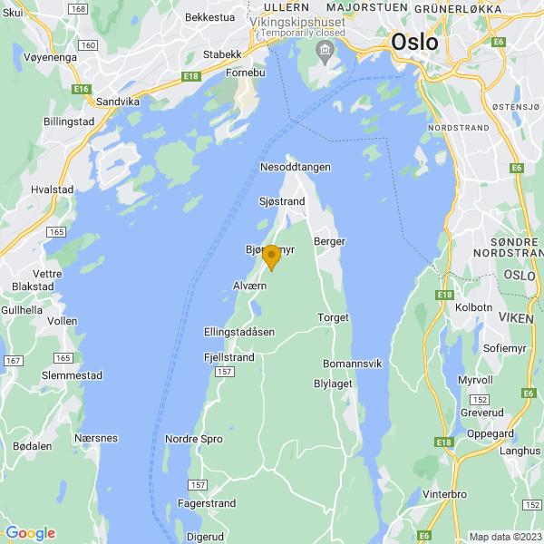 Google Map of 59.8261558,10.6443338