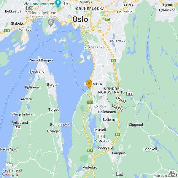 Google Map of 59.83282909999999,10.772796200000016