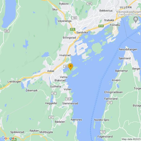 Google Map of 59.83498399999999,10.494156