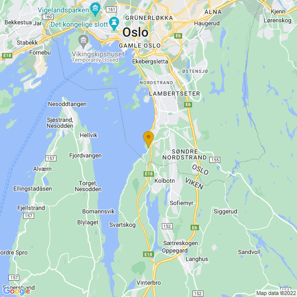 Google Map of 59.83506434364269,10.775121041294872