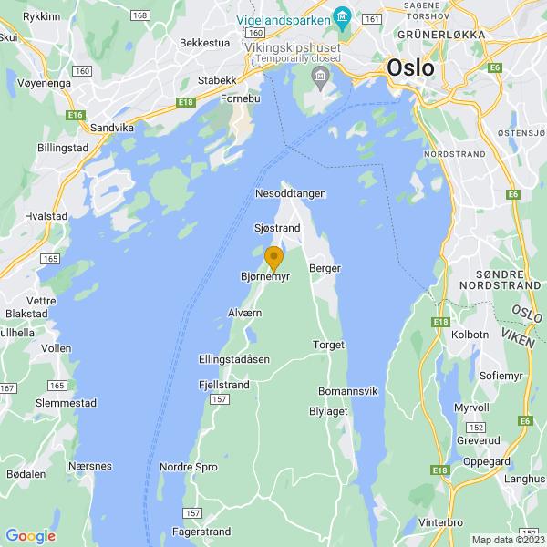 Google Map of 59.8357368,10.6493789