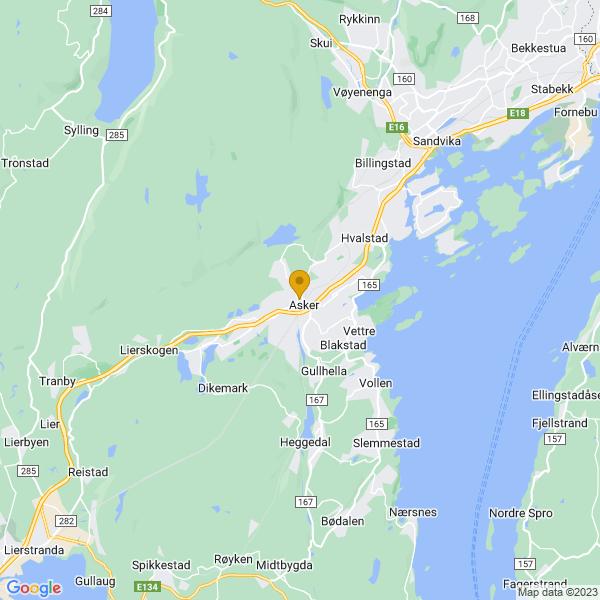Google Map of 59.836257,10.4333825
