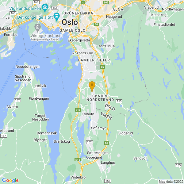 Google Map of 59.83756,10.8064159