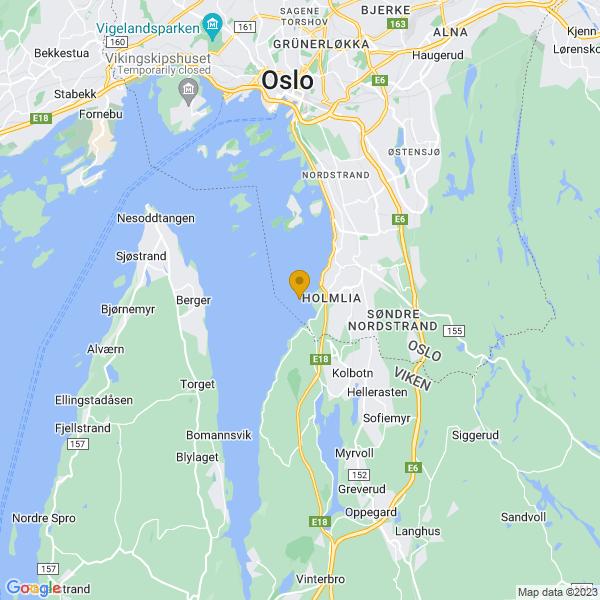 Google Map of 59.8380277,10.7608426