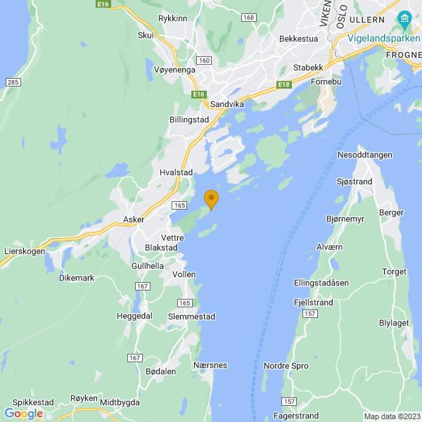 Google Map of 59.83870239999999,10.51211319999993