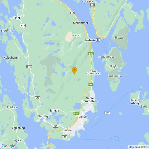 Google Map of 59.83933907666256,5.476594906551444