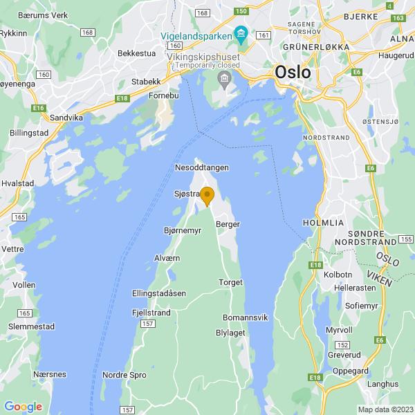Google Map of 59.84622049999999,10.6676274