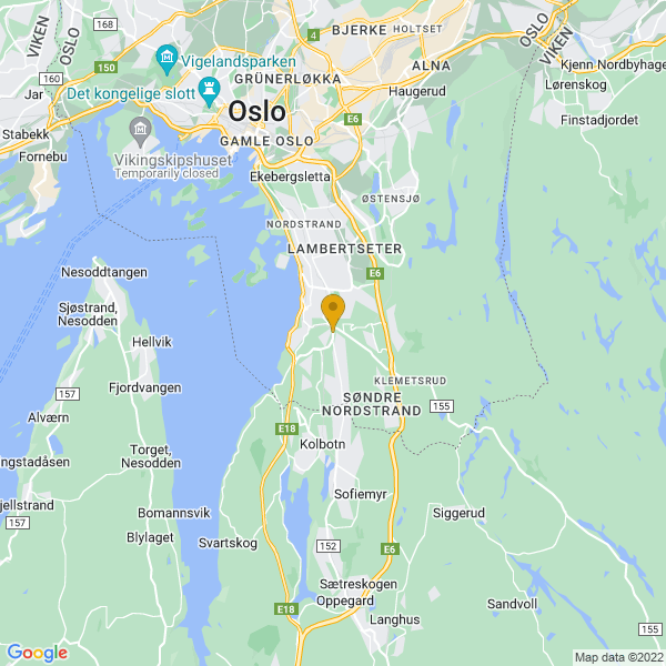 Google Map of 59.8471119,10.8033716