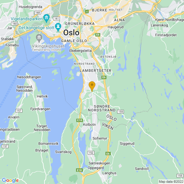 Google Map of 59.84927,10.803305