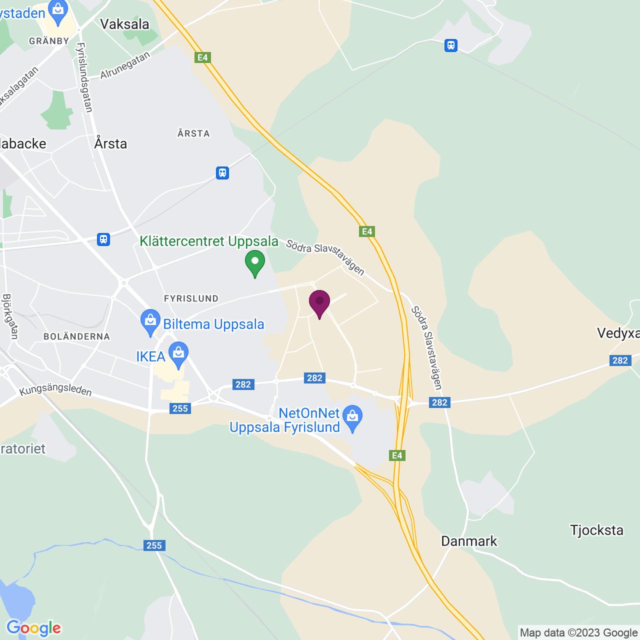 Karta över Pustgatan 5