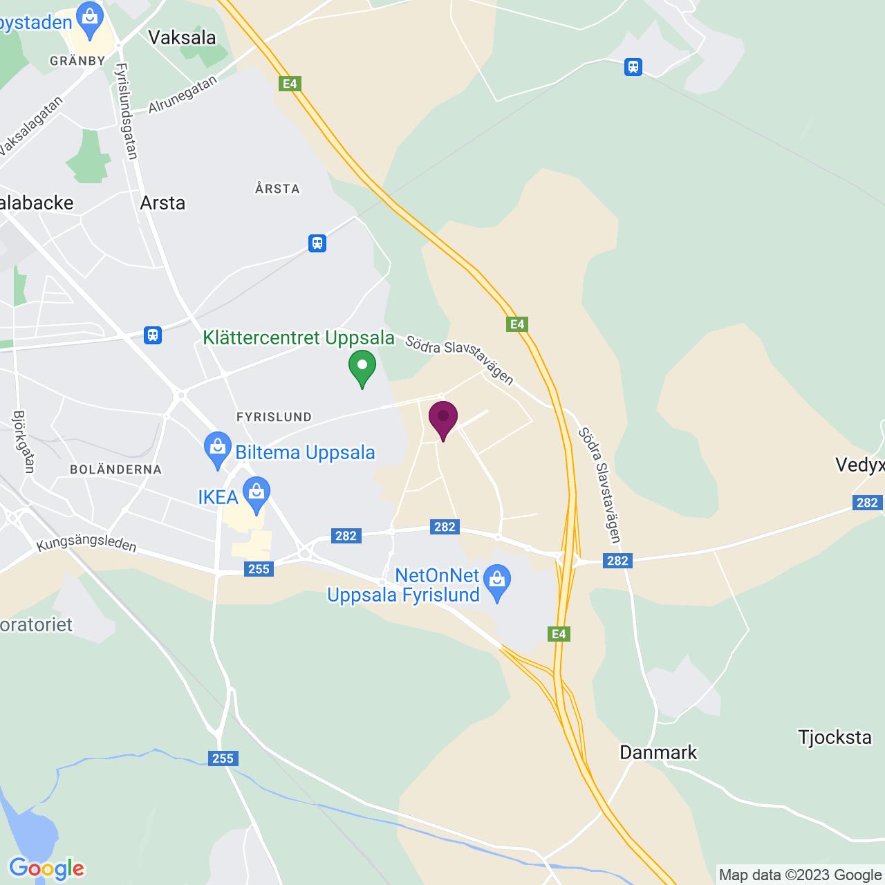 Map of Pustgatan 5