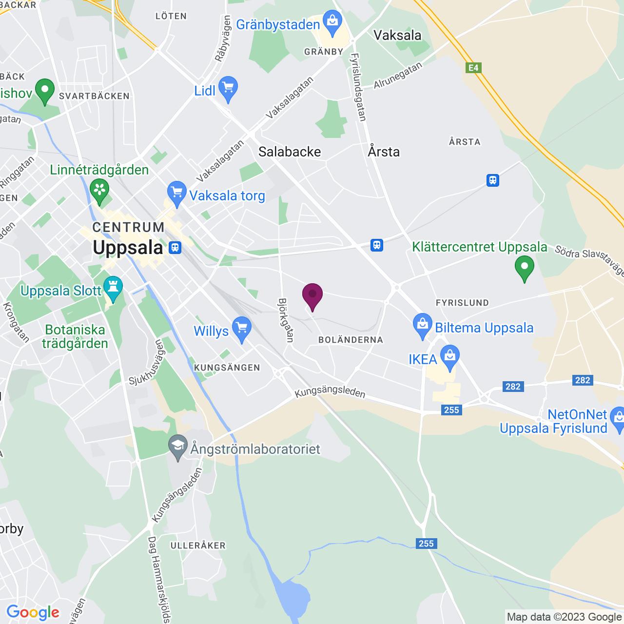 Karta över Danmarksgatan 24