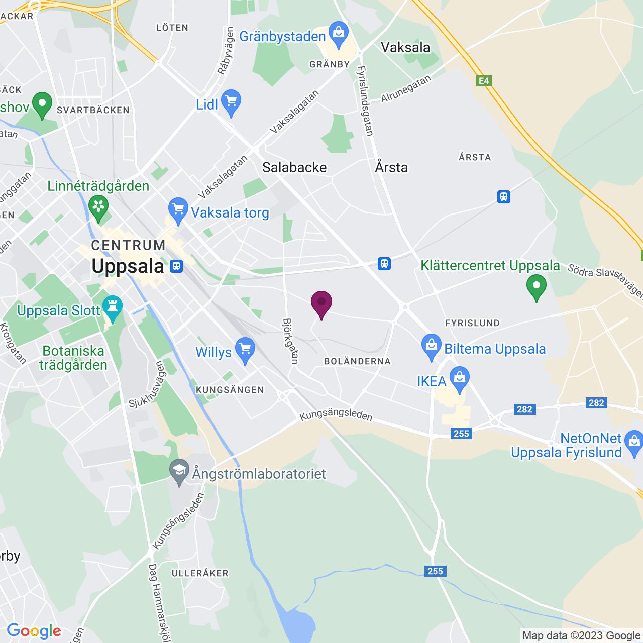 Kort över Danmarksgatan 20