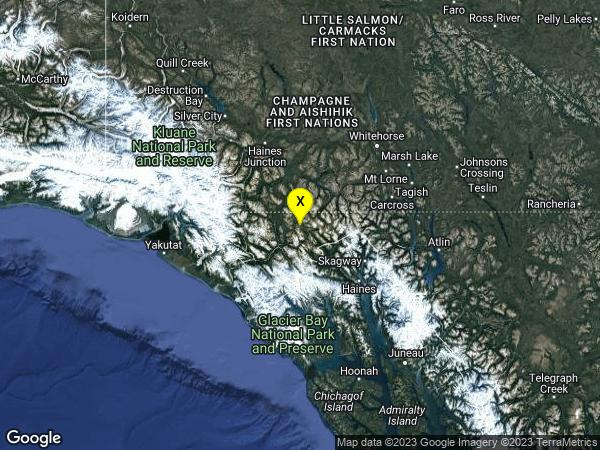 earthquake 51 km NW of Mosquito Lake, Alaska
