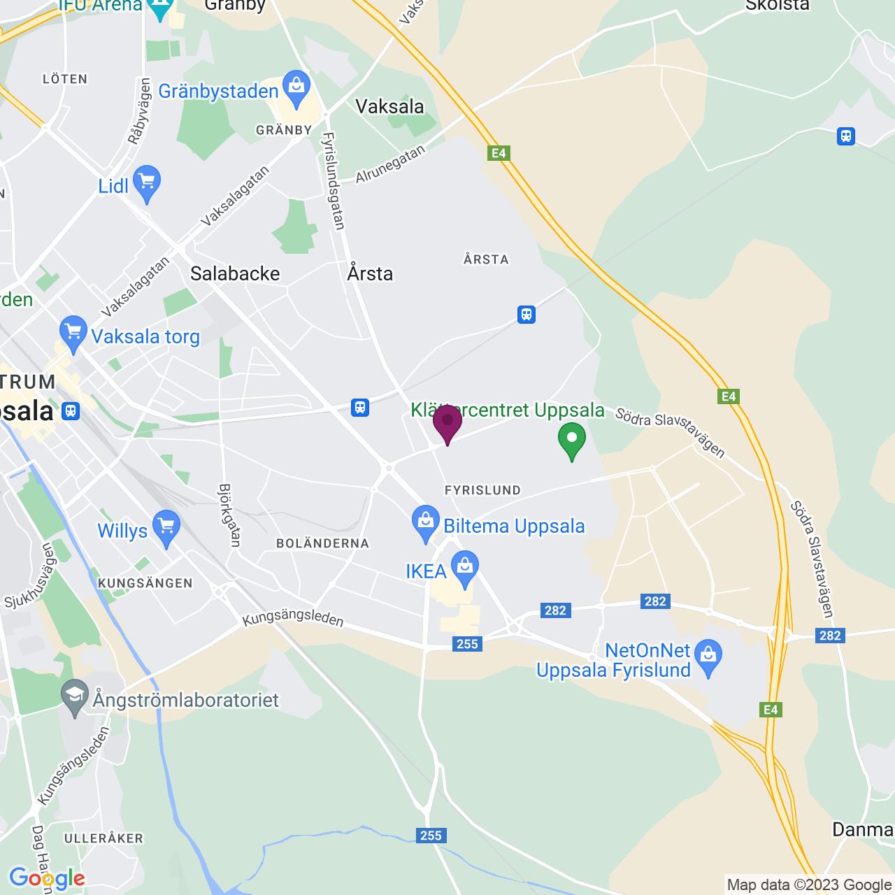Karta över Svederusgatan 1 - 3