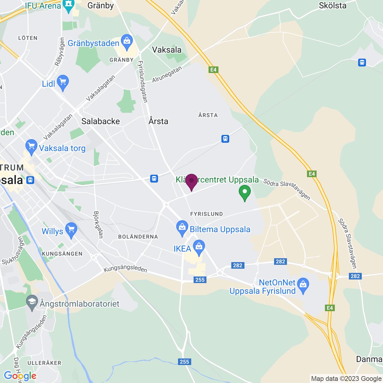 Kort över Stålgatan 8-12