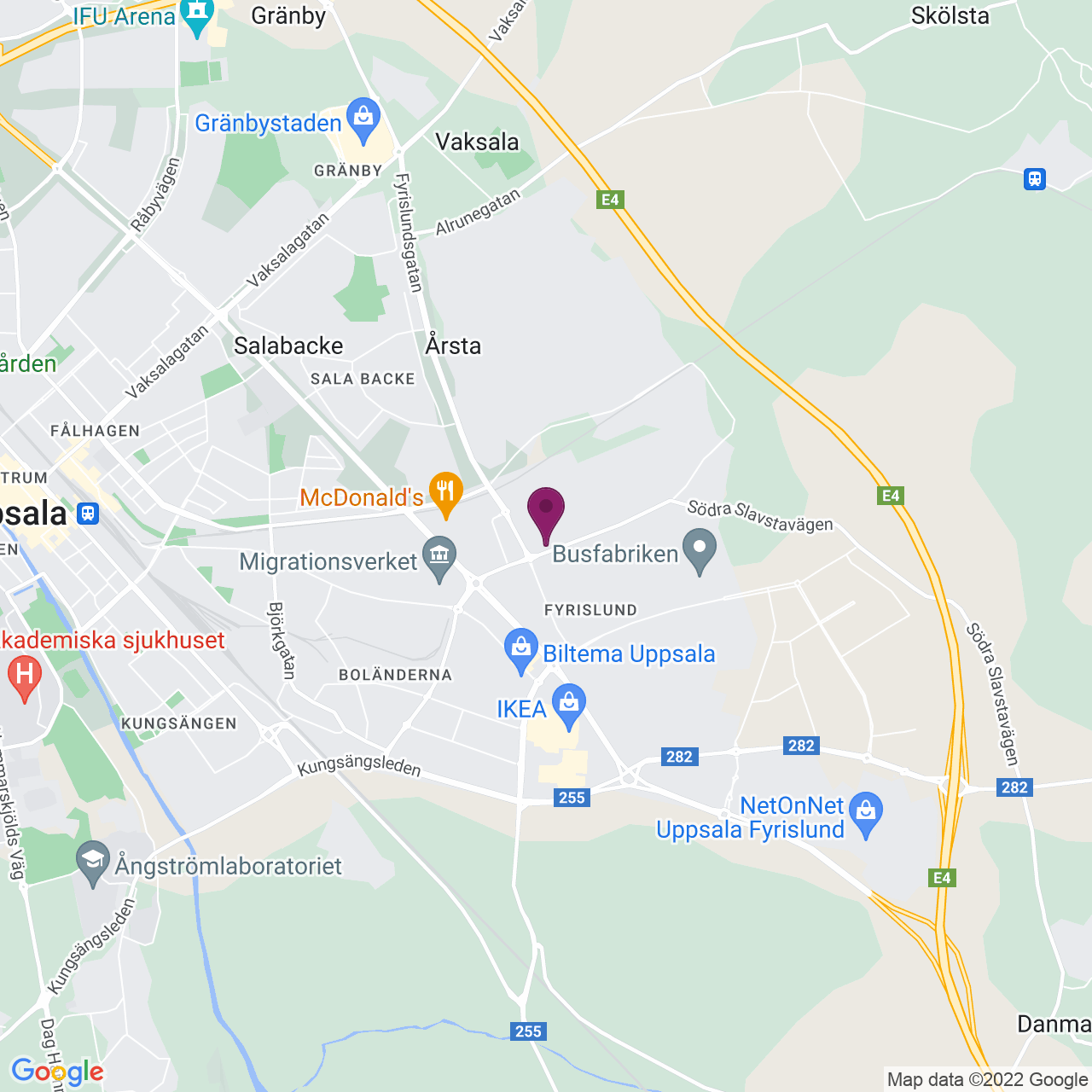 Karta över Stålgatan 8-12