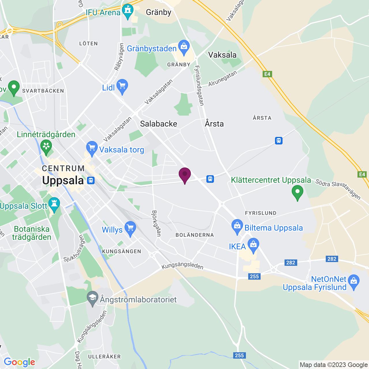 Karta över Fålhagsleden 57 A