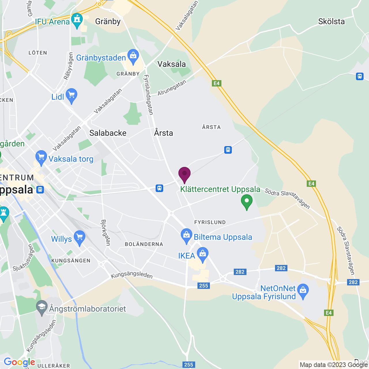 Karta över Fyrislundsgatan 68