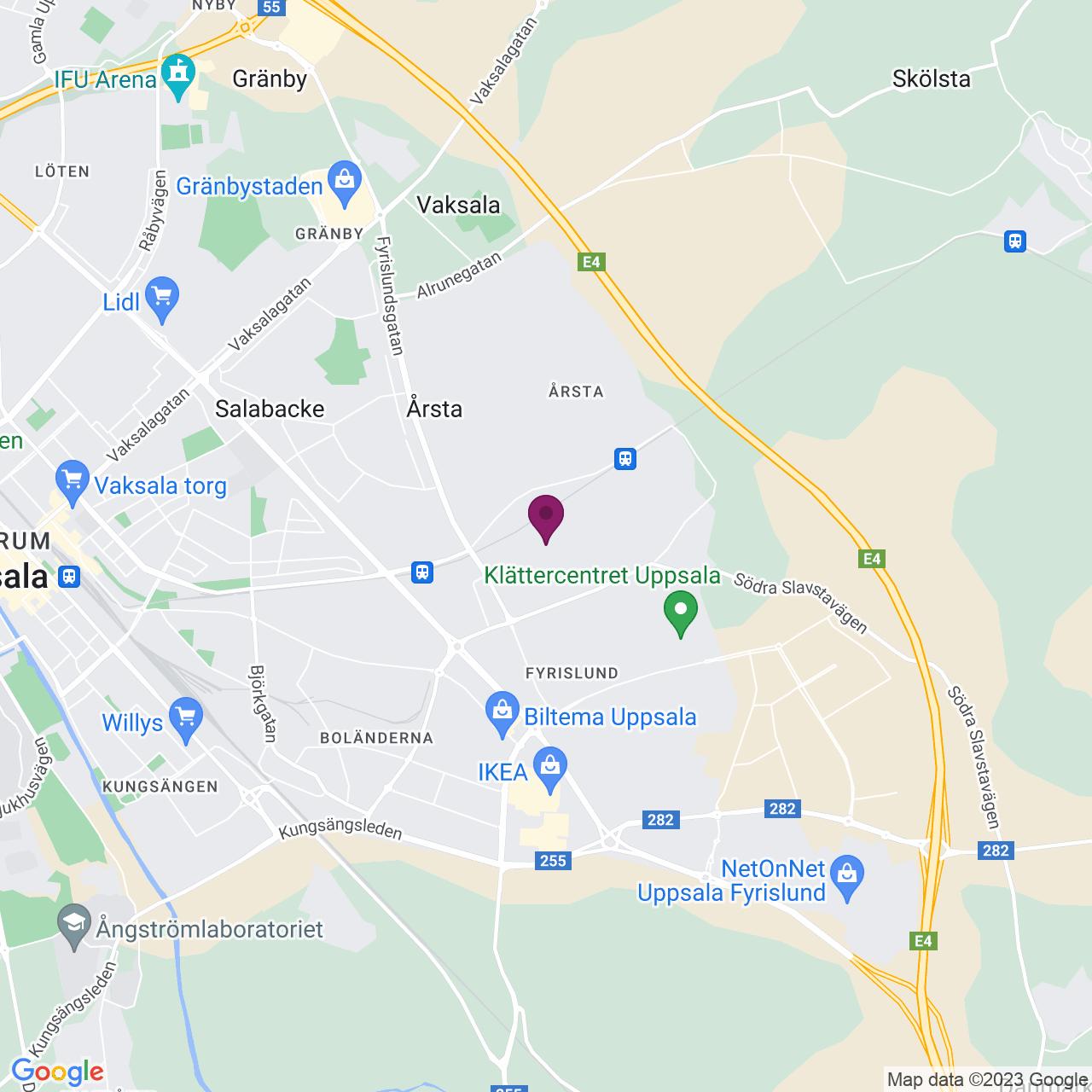 Karta över Axel Johanssons Gata 6